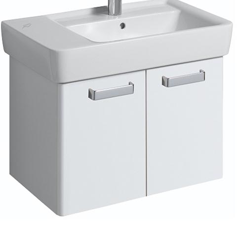 Geberit Renova Plan Waschtischunterschrank Korpus: weiß, Front: weiß hochglanz
