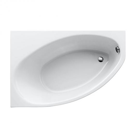 Geberit Renova Asymmetrische Raumspar-Badewanne weiß