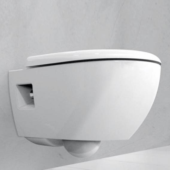 Geberit Renova Premium Wand-Tiefspül-WC ohne Spülrand weiß, mit KeraTect