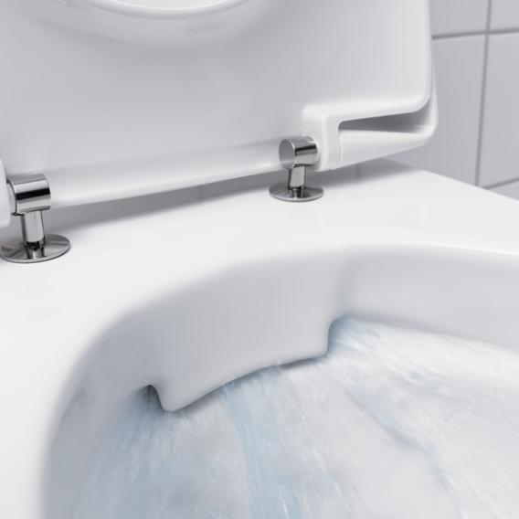 Geberit Renova Wand-Tiefspül-WC, 4,5/6 l ohne Spülrand, weiß, mit KeraTect