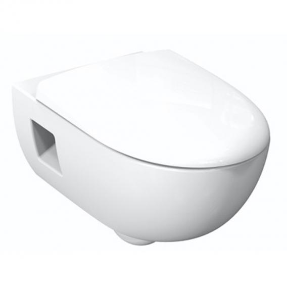Geberit Renova Wand-Tiefspül-WC, Premium, spülrandlos weiß, mit KeraTect