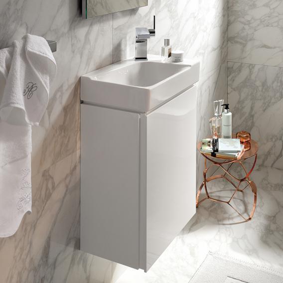 Geberit Xeno² Handwaschbeckenunterschrank mit 1 Tür Front weiß hochglanz/Korpus weiß hochglanz