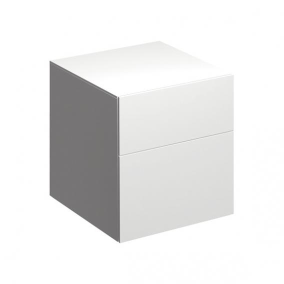 Geberit Xeno² Seitenschrank mit 1 Auszug und 1 Schublade Front weiß hochglanz/Korpus weiß hochglanz