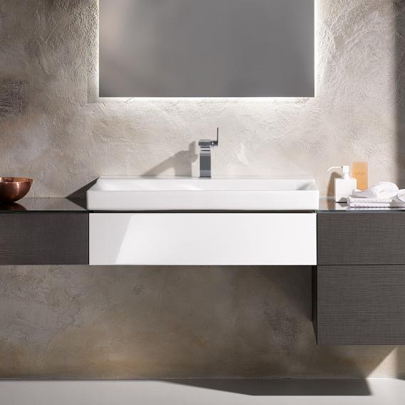 Geberit Xeno² Waschtischunterschrank mit 1 Auszug Front weiß hochglanz/Korpus weiß hochglanz