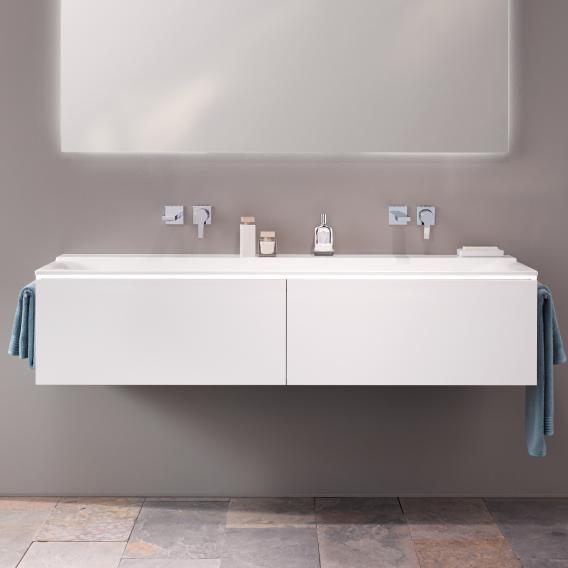Geberit Xeno² Waschtischunterschrank für Doppelwaschtisch mit 2 Auszügen Front weiß matt / Korpus weiß matt