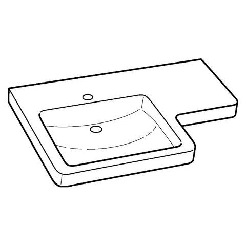 Keramag Renova Nr 1 Comfort Pro Waschtisch Asymmetrisch