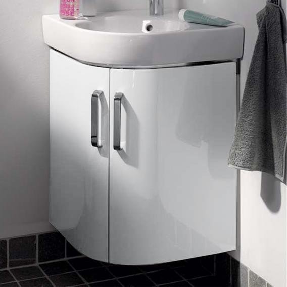 keramag renova nr 1 comprimo eckhandwaschbecken unterschrank front wei hochglanz korpus wei. Black Bedroom Furniture Sets. Home Design Ideas