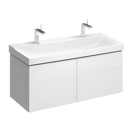 keramag xeno waschtischunterschrank mit 4 ausz gen front wei hochglanz korpus wei hochglanz. Black Bedroom Furniture Sets. Home Design Ideas
