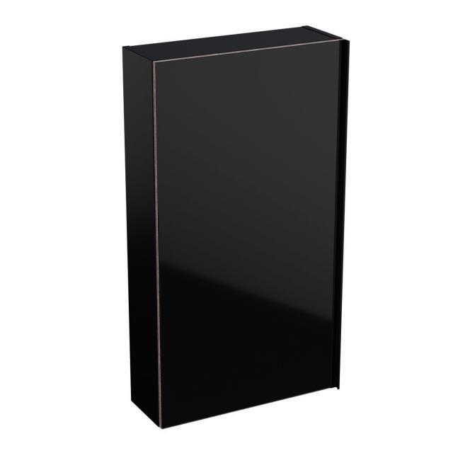 Geberit Acanto Hängeschrank, flach mit 1 Tür Front schwarz/Korpus schwarz matt