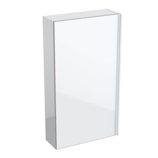 Geberit Acanto Hängeschrank, flach mit 1 Tür Front weiß/Korpus weiß hochglanz