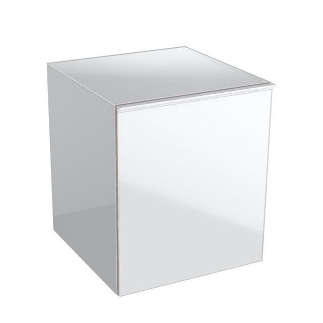 Geberit Acanto Seitenschrank mit 1 Auszug Front weiß/Korpus weiß hochglanz