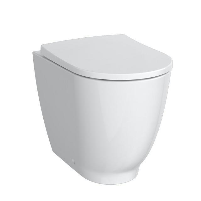 Geberit Acanto Stand-Tiefspül-WC ohne Spülrand weiß, mit KeraTect