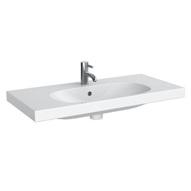 Geberit Acanto Waschtisch Compact weiß, mit KeraTect, mit 1 Hahnloch