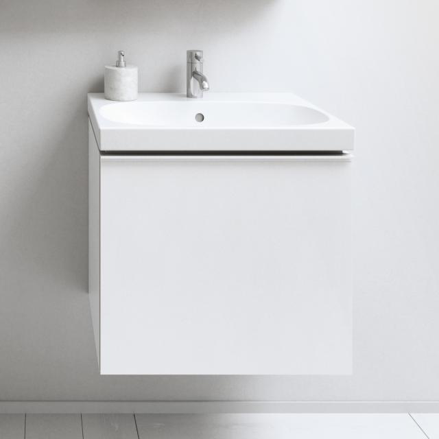 Geberit Acanto Waschtischunterschrank mit 1 Auszug Front weiß/Korpus weiß hochglanz