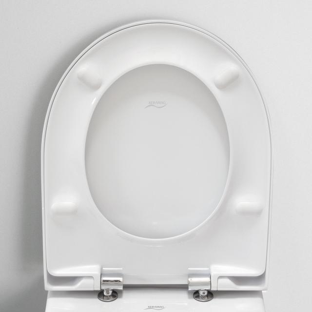Geberit Acanto WC-Sitz Slim mit Deckel ohne Absenkautomatik