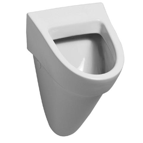 Geberit Flow Urinal, Zulauf hinten weiß mit KeraTect