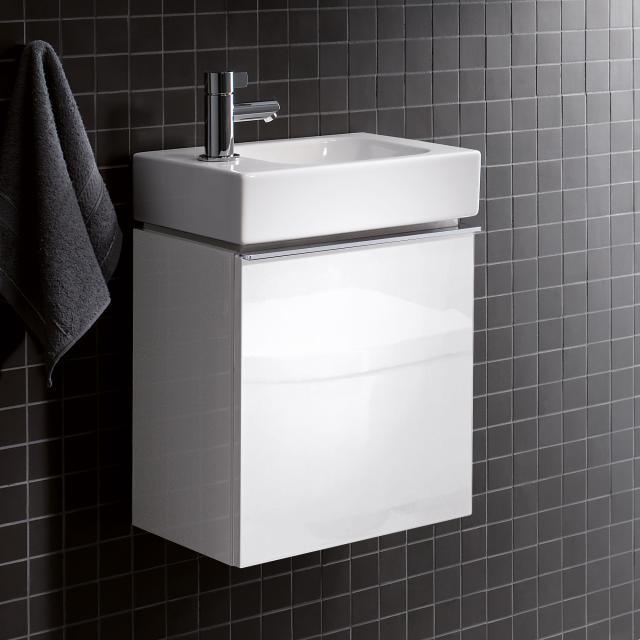Geberit iCon Handwaschbeckenunterschrank mit 1 Tür Front alpin hochglanz / Korpus alpin hochglanz