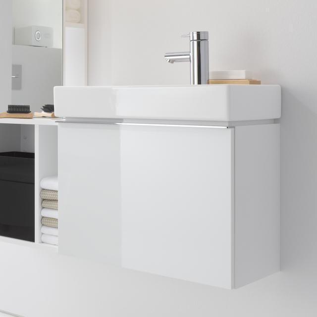 Geberit iCon Handwaschbeckenunterschrank mit 1 Auszug Front und Korpus Alpin hochglanz