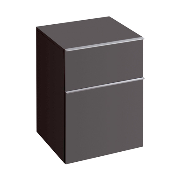 Geberit iCon Seitenschrank mit 2 Auszügen Front lava matt / Korpus lava matt