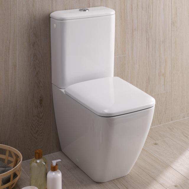Geberit iCon Square Stand-Tiefspül-WC für Kombination weiß