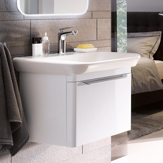Geberit myDay Waschtischunterschrank mit 1 Auszug Front und Korpus weiß hochglanz