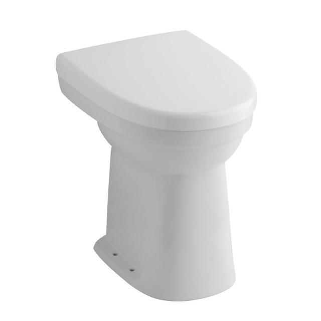 Geberit Renova Comfort Stand-Flachspül-WC Ausführung erhöht 45 cm Abgang senkrecht, weiß, mit KeraTect