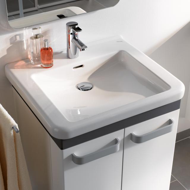 Geberit Renova Comfort Waschtisch weiß, mit 1 Hahnloch, mit Überlauf