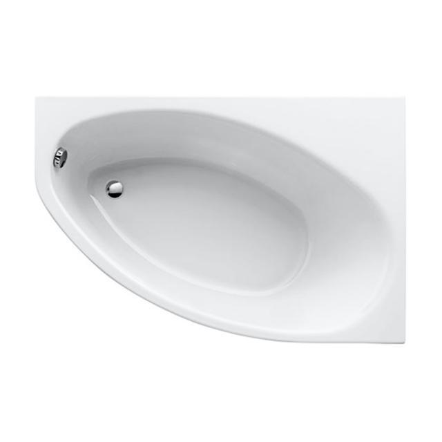 Geberit Renova Asymmetrische Eck-Badewanne, Einbau weiß