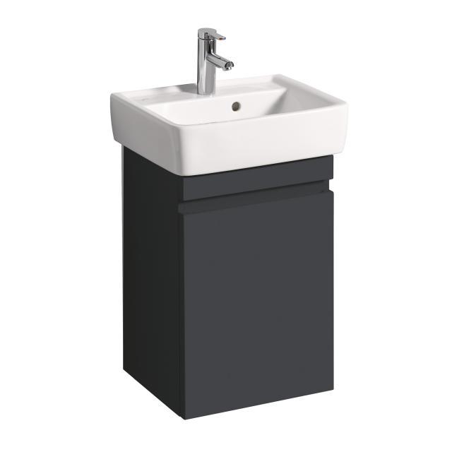 Geberit Renova Plan Handwaschbeckenunterschrank mit 1 Tür Front und Korpus lava matt