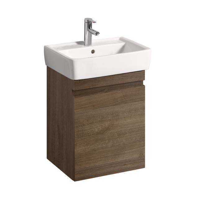 Geberit Renova Plan Waschtischunterschrank mit 1 Auszug Front und Korpus eiche natur dunkel