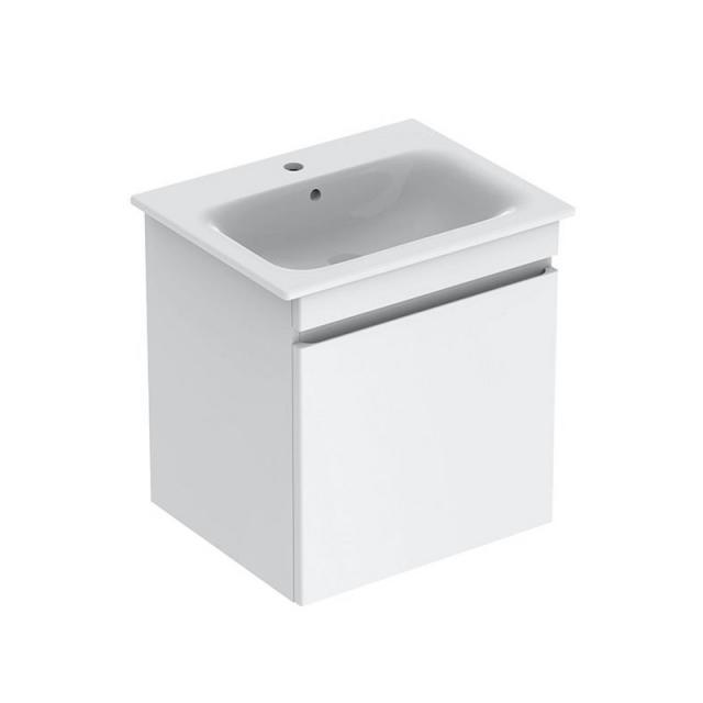 Geberit Renova Plan Waschtischunterschrank mit 1 Auszug Front weiß hochglanz / Korpus weiß hochglanz