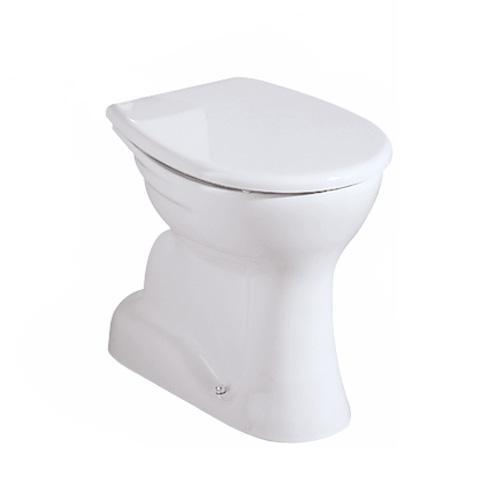 Geberit Renova Stand-Flachspül-WC Ablauf senkrecht weiß, mit KeraTect