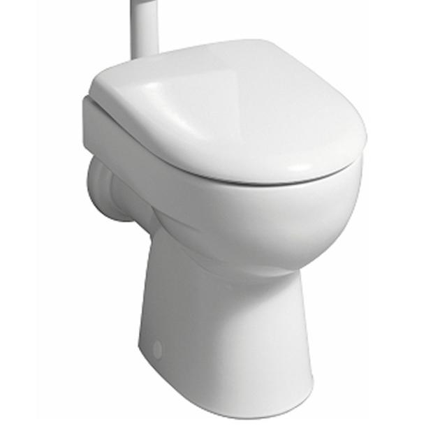 Geberit Renova Stand-Flachspül-WC weiß, mit KeraTect