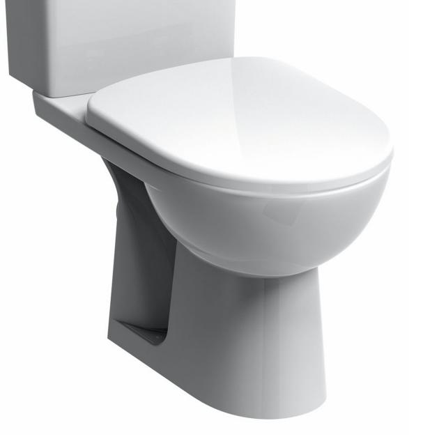 Geberit Renova Stand-Tiefspül-WC für Kombination weiß, mit KeraTect, Abgang waagerecht
