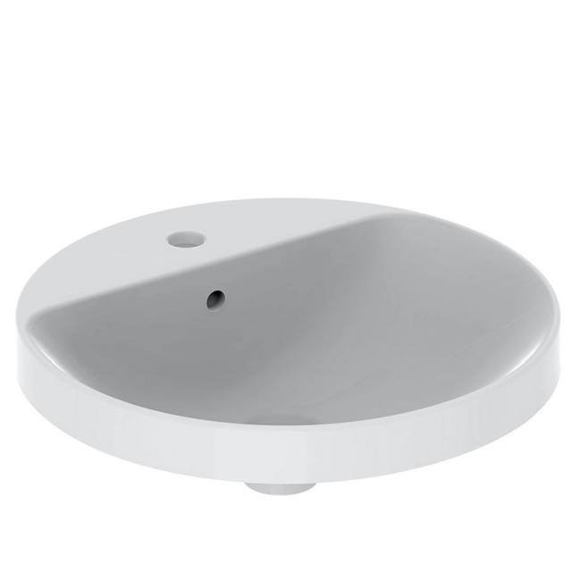 Geberit VariForm Einbauwaschtisch, rund weiß, Unterseite glasiert, mit Überlauf
