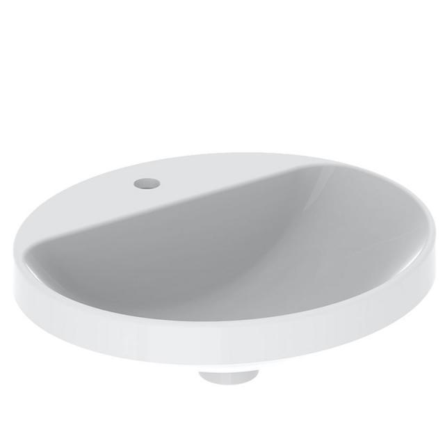 Geberit VariForm Einbauwaschtisch, oval weiß, ungeschliffen, mit KeraTect, ohne Überlauf