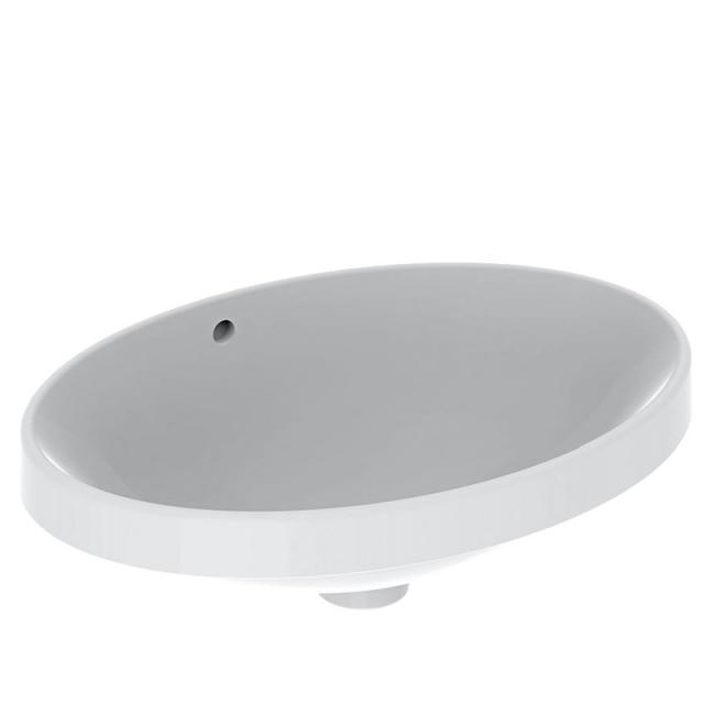 Geberit VariForm Einbauwaschtisch, oval weiß, geschliffen, mit Überlauf