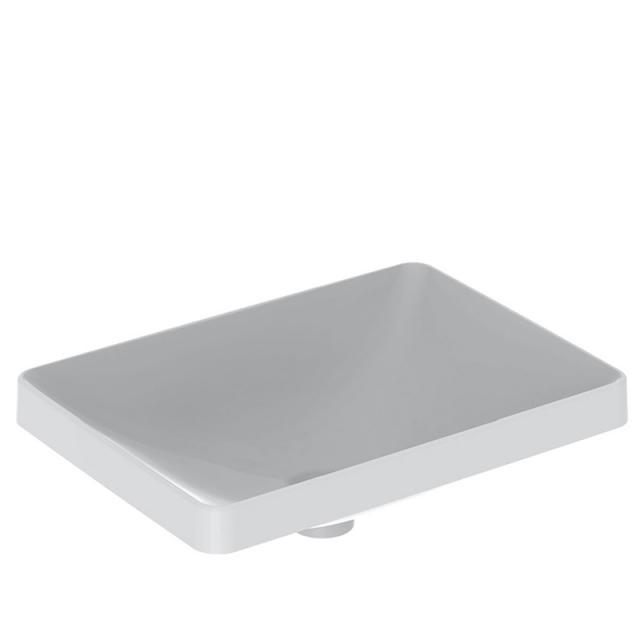 Geberit VariForm Einbauwaschtisch, rechteckig weiß, geschliffen, ohne Überlauf