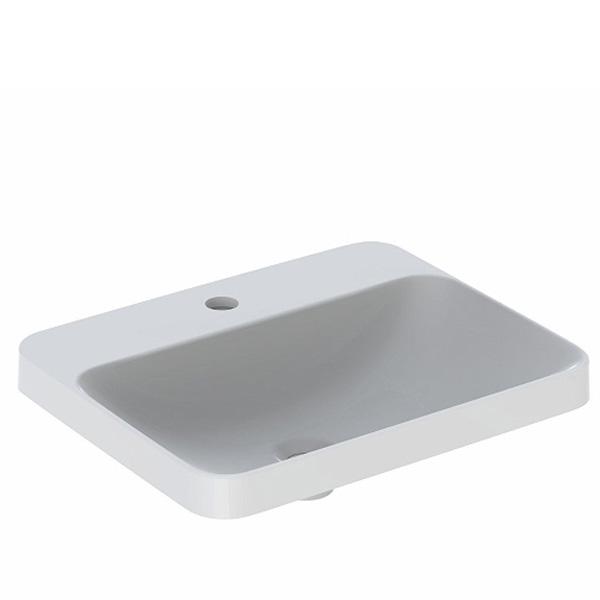 Geberit VariForm Einbauwaschtisch, rechteckig weiß, ungeschliffen, mit KeraTect, ohne Überlauf