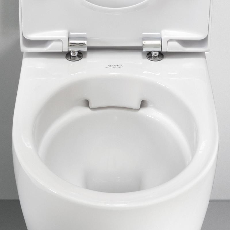 Bekannt Geberit Acanto Wand-Tiefspül-WC ohne Spülrand weiß mit KeraTect ME47