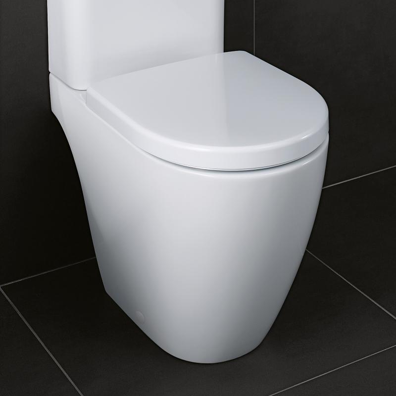 Extrem Geberit iCon Comfort Stand-Tiefspül-WC ohne Spülrand weiß mit ZE98