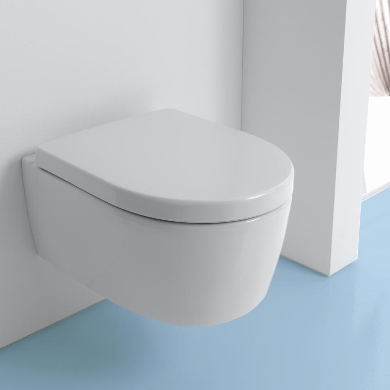 Super Geberit iCon Wand-Tiefspül-WC ohne Spülrand weiß mit KeraTect DS42