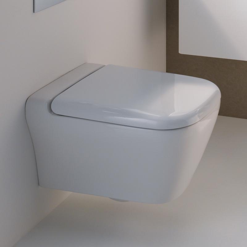 Favorit Geberit myDay Wand-Tiefspül-WC ohne Spülrand weiß mit KeraTect LB41