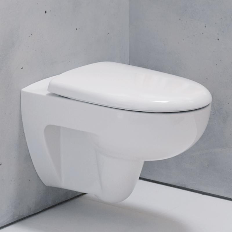 Berühmt Geberit Renova Wand-Tiefspül-WC ohne Spülrand weiß mit KeraTect XK25