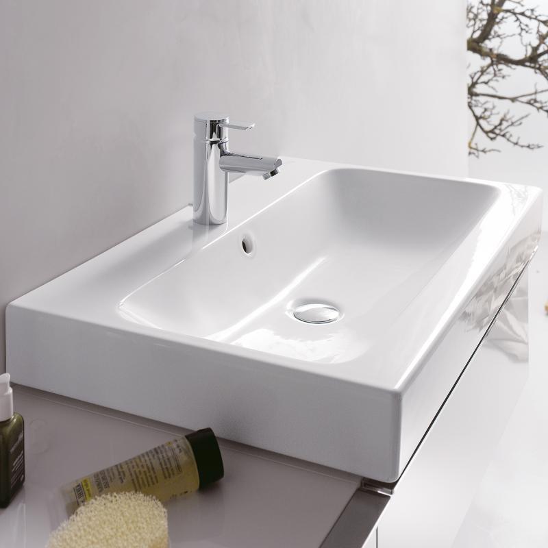 keramag icon aufsatzwaschtisch wei mit keratect 124575600 reuter. Black Bedroom Furniture Sets. Home Design Ideas