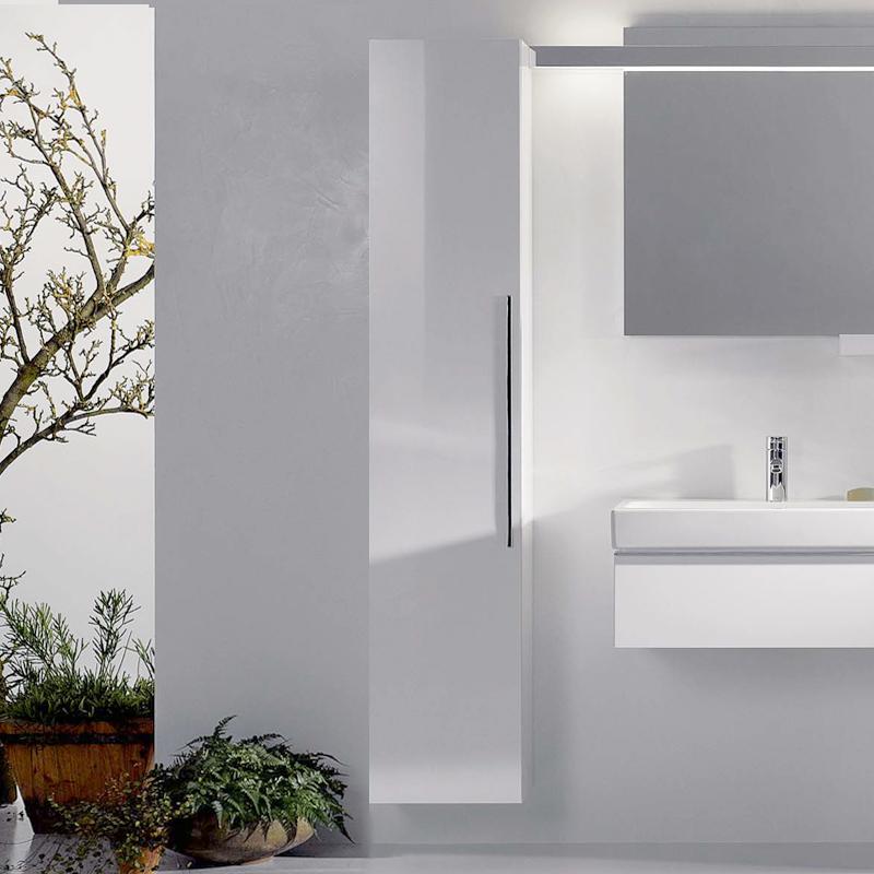 keramag icon hochschrank front und korpus alpin hochglanz 840000000 reuter. Black Bedroom Furniture Sets. Home Design Ideas
