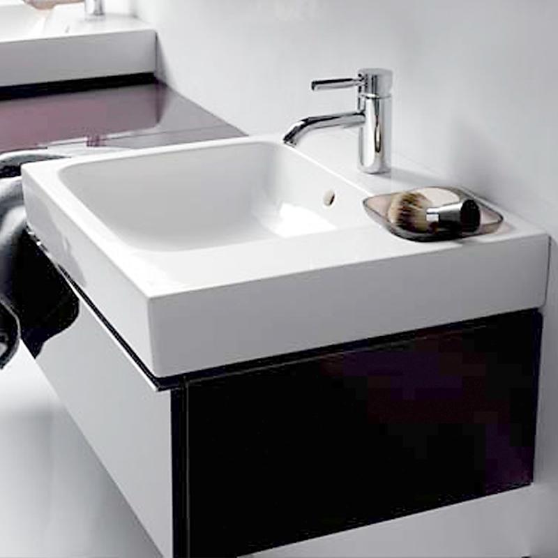 keramag icon waschtisch mit dekoschale wei 124050000 reuter. Black Bedroom Furniture Sets. Home Design Ideas