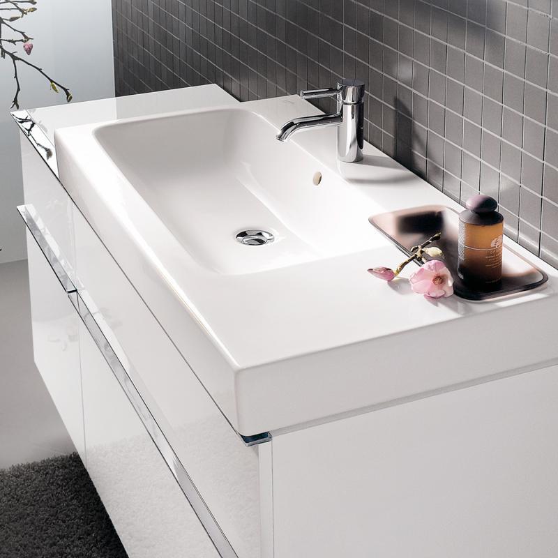 keramag icon waschtisch mit dekoschale wei mit keratect 124190600 reuter. Black Bedroom Furniture Sets. Home Design Ideas