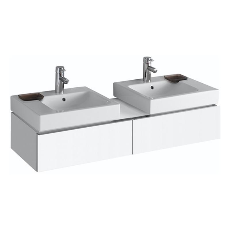 keramag icon waschtischunterschrank f r 2 waschtisch front und korpus alpin hochglanz. Black Bedroom Furniture Sets. Home Design Ideas