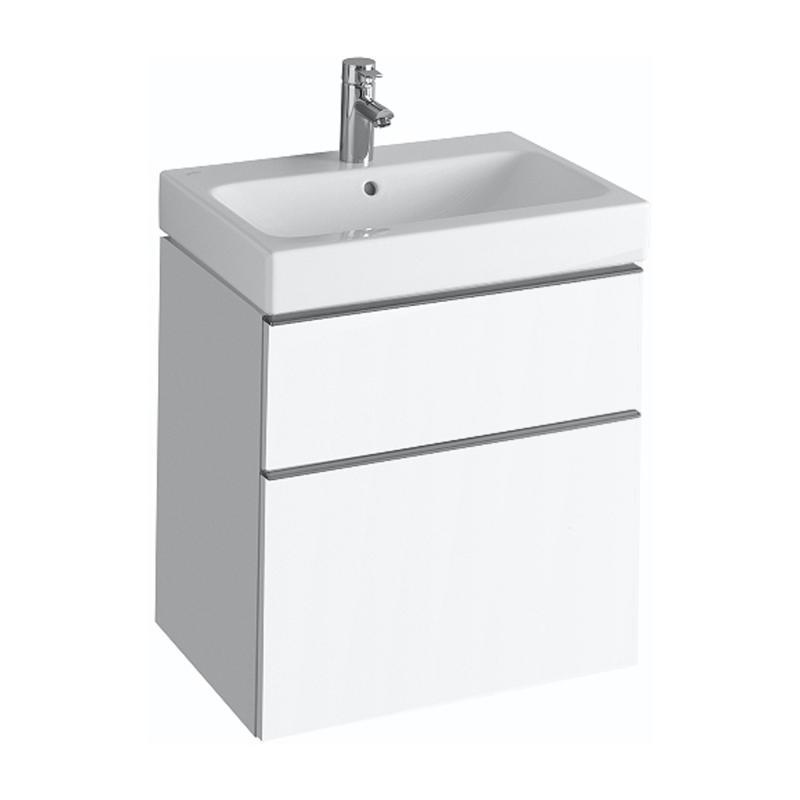 keramag icon waschtischunterschrank mit 2 ausz gen front und korpus alpin hochglanz 840360000. Black Bedroom Furniture Sets. Home Design Ideas